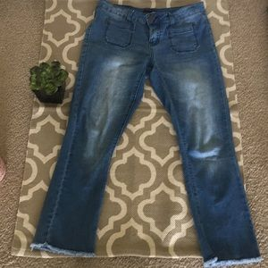 Denim - Love Revival size 5 jeans with frayed bottoms